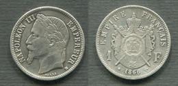 1 FRANC 1866 BB - H. 1 Franc