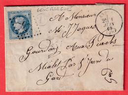 N°29 GC 97 ANDUZE GARD BOITE RURALE D GENERARGUES ST JEAN DU GARD - 1849-1876: Klassieke Periode