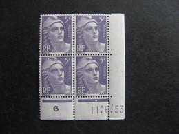B).TB Bloc De 4 Coin Daté:  11.06.1953 Du N° 883, Neuf XX . - 1950-1959