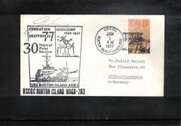 USA 1977 Antarctica Operation Deep Freeze USCGC Burton Island Interesting Letter - Polare Shiffe & Eisbrecher