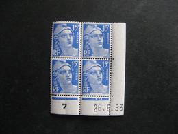 TB Bloc De 4 Coin Daté:  26.06.1953 Du N° 886, Neuf XX . - 1950-1959