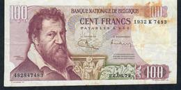BELGIUM P134b 100 FRANCS 1972   VF NO P.h. - 100 Francs