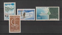 Andorre Français Année Complète 1966 Du 175 Au 178 4 Val. ** MNH - Années Complètes