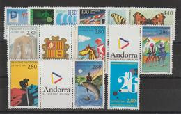 Andorre Français Année Complète 1994 Du 441 Au 453 7 Val. + 3 Trypt. ** MNH - Années Complètes