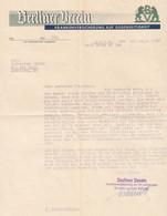 """Köln 1937 Deko Rechnung """" Berliner Verein Krankenversicherung A G """" - Banco & Caja De Ahorros"""