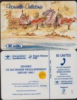 NC22  NOUVELLE CALEDONIE CASES Et LAGON TELECARTE 80 U PUCE GEM1 Sans Numéro - Neukaledonien