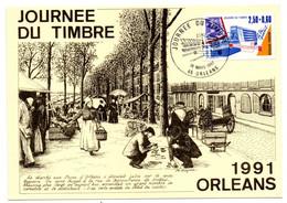 Carte 1er Jour / Journée Du Timbre / Orléans /  16-3-1991 - 1990-99
