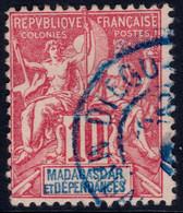 ✔️ Madagascar 1900/1906 - Mouchon Groupé - Cachet DIEGO SUAREZ - Yv. 43 (o) - Gebruikt