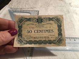 Chambre De Commerce D'Épinal 0,50 Cent Les Billets En Circulation Sont échangeables Contre Les Billets De Banque En Fran - Ohne Zuordnung