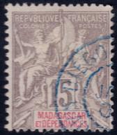 ✔️ Madagascar 1900/1906 - Mouchon Groupé - Cachet DIEGO SUAREZ - Yv. 44 (o) - Gebruikt