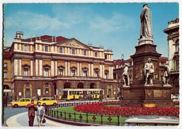 Tram/Strassenbahn Mailand Milano,Scala-Theater,Fiat Multipla, Gelaufen - Strassenbahnen