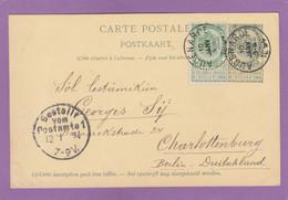 ENTIER POSTAL D'AUDENARDE POUR CHARLOTTENBURG,BERLIN. - Postcards [1871-09]