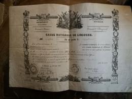 Garde Nationale De Libourne  1831: Nomination Au Grade De Capitaine - Documenti Storici