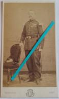 1850 1870 Paris Officier Médaille Légion Honneur Italie Crimée 2nd Empire Prusse Napoléon III Photo CDV Thiersault - Guerra, Militari