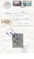 LR Alger Bab-El-Oued 14 2 1955 Pour St Georges De Mons  Vusée Par La Douane à Lyon - Covers & Documents