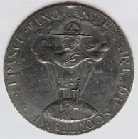Rare Grande Médaille Scoutisme Cinquantenaire France Baden Powell Scout Années 50 Atelier Du Doulon - Sonstige