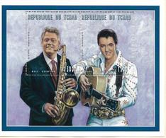 TCHAD 1996   BILL CLINTON ET ELVIS PRESLEY  BLOC  YVERT N°B NEUF MNH** - Elvis Presley