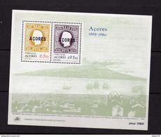 Portugal Acores  (1980)  -   BF - Centenaire Du Timbre -   Neufs** - Azores