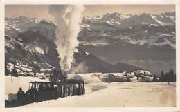 CPA  Suisse, RIGI-KALTBAD, Chemin De Fer, Train. En Hiver, Carte Photo J. Gaberell, 1926 - LU Lucerne
