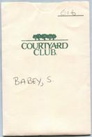 Pochette Carte Hôtel - Courtyard Club (Recto-Intérieur-Carte-Verso) - [3] Magnetic Cards