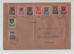 REF2435/ TP 538/545 Secours D'Hiver S/L. C.Oostende 1/4/41 > Duitsland - Allemagne - Storia Postale