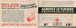 CARNET  - Antituberculeux - 1934 - Complet** - Nestlé/Fly-tox/Bi-oxyne - - Antitubercolosi