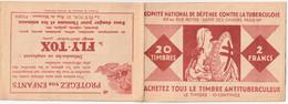 CARNET  - Antituberculeux - 1927-28 - Complet** - - Antitubercolosi