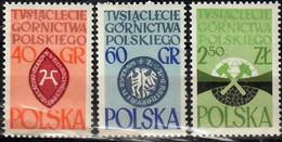 1961 Polnische Bergwerksindustrie Mi 1269-71 / Fi  1124-6 / Sc 1021-3 / YT 1132-4 Postfrisch / Neuf Sans Ch / MNH - Nuovi
