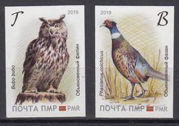 MOLDOVA TRANSNISTRIA 2019 EUROPA CEPT. NATIONAL BIRDS SET 2 ST.not Dental MNH - 2019