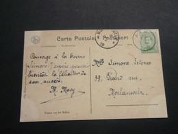 Stempel ( 500 )  Afstempeling Op Kaart  Ieper -  Noodstempel   1919 - Noodstempels (1919)