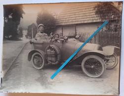 1915 Automobile Peugeot BB Immatriculée 114547 Cavalerie Officier Voiture Liaison Poilus Tranchée 1914 1918 WW1 Photo - Guerra, Militari