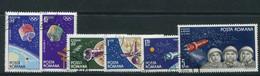 ROMANIA 1965 Moon Exploration  MNH / **.  Michel 2369-74 - Gebraucht