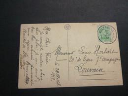 Stempel ( 504 )  Afstempeling Op Kaart  Bruxelles -  Noodstempel   1919 - Noodstempels (1919)
