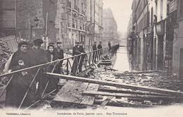 PARIS INONDATIONS 1910 RUE TRAVERSIERE ,ANIMATION REF 68619 - Arrondissement: 12