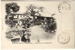 PORTO-NOVO (Dahomey) _Marché Aux Légumes - Dahomey