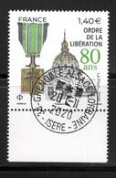 France 2020.80 Ans Ordre De La Libération.Cachet Rond Gomme D'origine. - Used Stamps