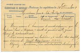 CARTE DU CHARBONNAGE DE BERNISSART 1901 - Dour