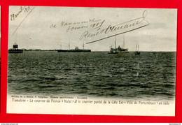 CPA (Ref : AA 745) THÈME TRANSPORTS BATEAUX PAQUEBOTS (NATAL) Courrier Posstal De La Côte Est (ville De Pernambuco) - Piroscafi