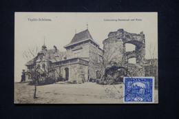 TCHÉCOSLOVAQUIE - Affranchissement De Teplitz Sur Carte Postale - L 78620 - Briefe U. Dokumente
