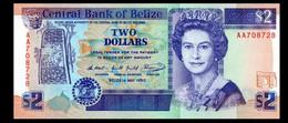 # # # Ältere Banknote Belize (Belize) 2 Dollar 1990 UNC # # # - Belize