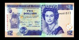 # # # Ältere Banknote Belize (Belize) 2 Dollar 2014 UNC # # # - Belize