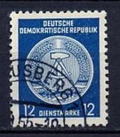 Allemagne Démocratique - Germany - Deutschland Service 1955 Y&T N°S20 Type 2 K13 - Michel N°D20I (o) - 12p Armoirie - Service
