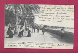 Cannes 448 Giletta L'homme Au Journal En 1903 à Droite Est Rarement Présent Voir Jamais  5075 Précurseur - Cannes