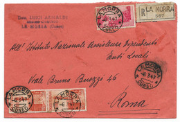 RACCOMANDATA DA LA MORRA A ROMA - 6.3.1947 - AVVENTO DELLA REPUBBLICA. - 1946-60: Marcophilia