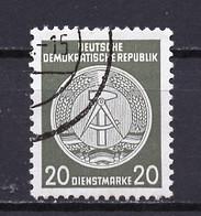 Allemagne Démocratique - Germany - Deutschland Service 1955 Y&T N°S22 Type 2 K13 - Michel N°D22I (o) - 20p Armoirie - Service