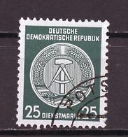 Allemagne Démocratique - Germany - Deutschland Service 1955 Y&T N°S23 Type 2 K13 - Michel N°D23I (o) - 25p Armoirie - Service