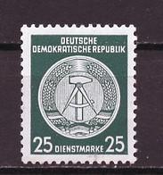 Allemagne Démocratique - Germany - Deutschland Service 1955 Y&T N°S23 Type 2 K13 - Michel N°D23I *** - 25p Armoirie - Service