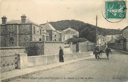 CPA 78 St-Rémy-lès-Chevreuse LA MAIRIE ET LA RUE DE PARIS 1908 N°5 EDIT.ND.PHOT TRANSPORTS ATTELAGE VOIR IMAGES - St.-Rémy-lès-Chevreuse