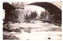 PONT VILLIEU   CANOES   AIN  1937   PHOTO ANIMEE - Luoghi