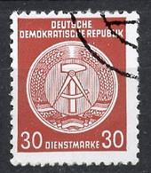 Allemagne Démocratique - Germany - Deutschland Service 1955 Y&T N°S24 Type 2 K13 - Michel N°D24I (o) - 30p Armoirie - Service